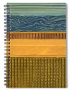 Earth Layers Abstract L Spiral Notebook