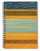 Earth Layers Abstract Ll Spiral Notebook