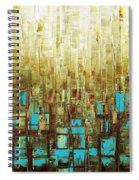Abstract Geometric Mid Century Modern Art Spiral Notebook