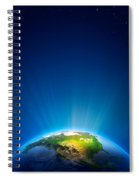 Earth Radiant Light Series - North America Spiral Notebook
