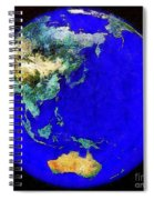 Earth Seen From Space Australia And Azia Spiral Notebook