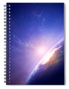 Earth Sunrise In Foggy Space Spiral Notebook