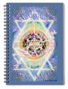 Earth Water Spirit Madonna Peace Matrix Spiral Notebook