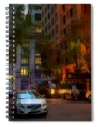 East 44th Street - Rhapsody In Blue And Orange - Close View Spiral Notebook