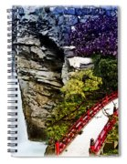 East And West Collage Spiral Notebook
