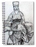 East Asian Woman Spiral Notebook