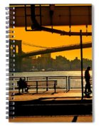 East River Sunset Spiral Notebook