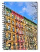 East Village Buildings On East Fourth Street And Bowery Spiral Notebook