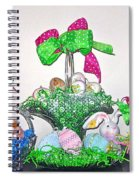 Easter Baskets In A Row  Spiral Notebook
