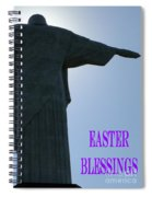 Easter Blessings Card Spiral Notebook