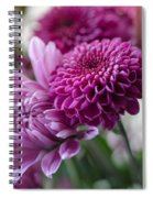 Easter Bouquet Flowers Mums And Dahlia Spiral Notebook