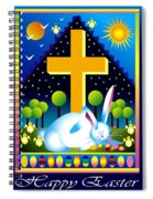 Easter Card Spiral Notebook