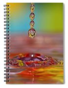 Easter Drop Water  Spiral Notebook