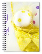 Easter Eggs In Basket Spiral Notebook