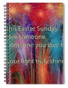 Easter Inspiring Digital Painting Spiral Notebook