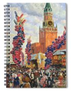 Easter Market At The Moscow Kremlin Spiral Notebook