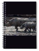 Eastern Black Rhinos Mama N Baby Spiral Notebook