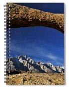 Eastern Sierra Nevada Mountains Lathe Arch Spiral Notebook