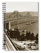 Eastern Span Of San Francisco-  Oakland Bay Bridge Circa 1937 Spiral Notebook