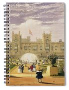 Eastern View Of The Castle And Garden Spiral Notebook