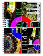 Eat Drink Explore Repeat 20140713 Horizontal Spiral Notebook