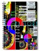 Eat Drink Explore Repeat 20140713 Vertical Spiral Notebook