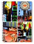 Eat Drink Play Repeat San Francisco 20140713 Horizontal Spiral Notebook