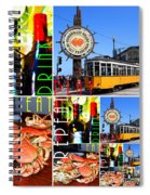 Eat Drink Play Repeat San Francisco 20140713 Vertical V2 Spiral Notebook