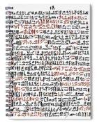 Ebers Papyrus, C1550 B.c Spiral Notebook