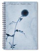 Echinops Ritro 'veitch's Blue' Cyanotype Spiral Notebook