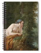 Echo And Narcissus Spiral Notebook