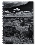 Echo Park From The Ridge Black And White Spiral Notebook