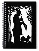 Eckstein Man And Dog Spiral Notebook