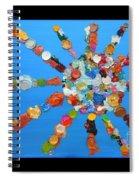 Eclectic Sun Spiral Notebook