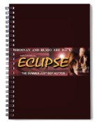 Eclipse Faux Movie Banner Spiral Notebook