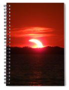 Eclipse Over Marion Reservoir 3 Spiral Notebook