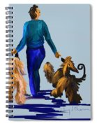 Eddie Dancing With Dogs Spiral Notebook