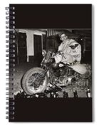 Eddie Davenport Of Tulare California On A Motorcycle Hollister  July 7 1947 Spiral Notebook