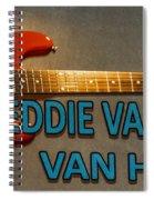 Eddie Van Halen Guitar Spiral Notebook