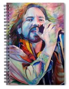 Eddie Vedder In Pink And Blue Spiral Notebook