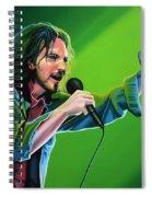 Eddie Vedder Of Pearl Jam Spiral Notebook
