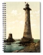 Eddystone Lighthouse Plymouth England Spiral Notebook