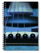 Edgy Abstract Eclectic Guitar 17 Spiral Notebook