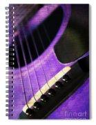 Edgy Purple Guitar  Spiral Notebook