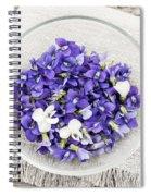 Edible Violets  Spiral Notebook