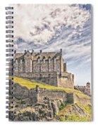 Edinburgh Castle Painting Spiral Notebook