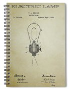 Edison Electric Lamp Patent 3 -  1882 Spiral Notebook