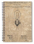 Edison Electric Lamp Patent Marble Spiral Notebook