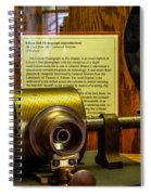 Edison Foil Phonograph Spiral Notebook