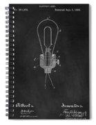 Edison Light Bulb Patent Art Chalkboard Spiral Notebook